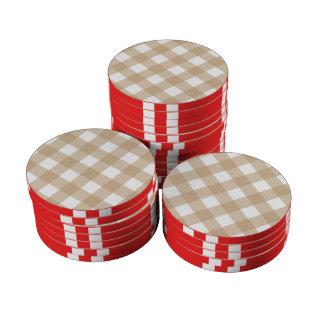 Arena de la tela escocesa 1 fichas de póquer