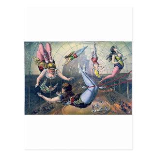Arena de los caballos del trapecio del CIRCO del Tarjetas Postales