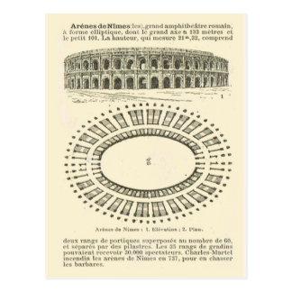 Arena de Nimes, romana Postal