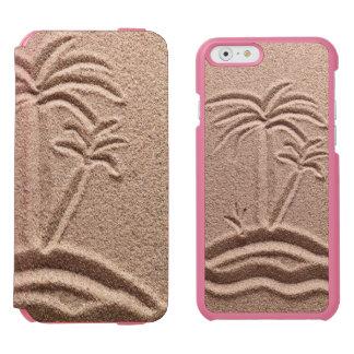 Arena del boda de playa de la isla del océano funda billetera para iPhone 6 watson