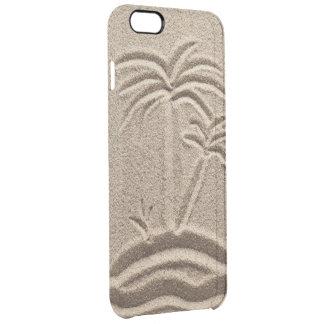Arena del boda de playa de la isla del océano funda clearly™ deflector para iPhone 6 plus de unc