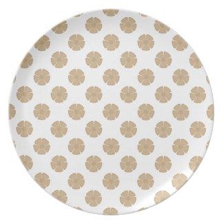 Arena del estampado de plores 2 platos