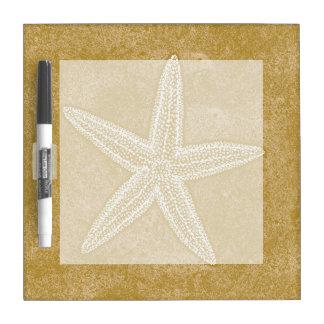 Arena del moreno de las estrellas de mar pizarras blancas de calidad