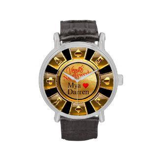 Arena del negro del oro del microprocesador el | relojes de mano