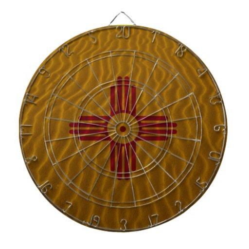 Arena del postre de la bandera de New México Tablero Dardos