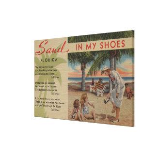 Arena en mis zapatos y Florida PoemFlorida Lona Envuelta Para Galerias