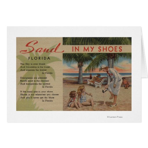 Arena en mis zapatos y Florida PoemFlorida Tarjetón