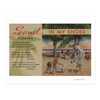 Arena en mis zapatos y Florida PoemFlorida Tarjetas Postales