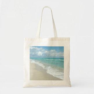 Arena extrema del blanco de la opinión de la playa bolsa tela barata
