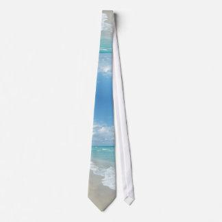 Arena extrema del blanco de la opinión de la playa corbatas