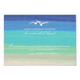 Arena, mar y océano pintado el | de las gaviotas invitación