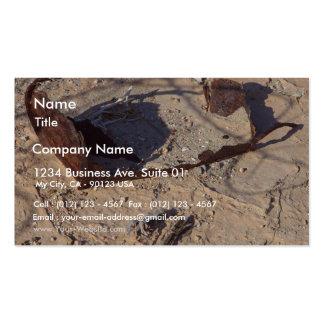 Arena oxidada del desierto de las latas tarjetas de visita
