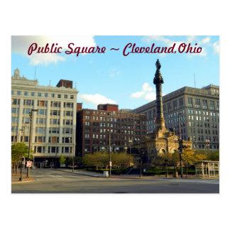 Arena pública, postal de Cleveland Ohio