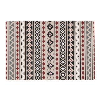 Arena roja gris blanca del negro azteca de la tapete individual