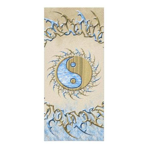 Arena y agua tribales Yin Yang Lona Personalizada