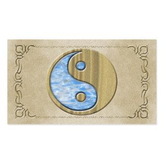 Arena y agua tribales Yin Yang Tarjeta De Visita