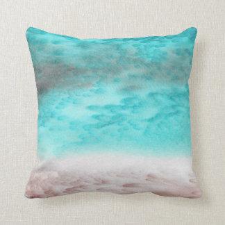 Arena y almohada de seda abstracta de Seafoam