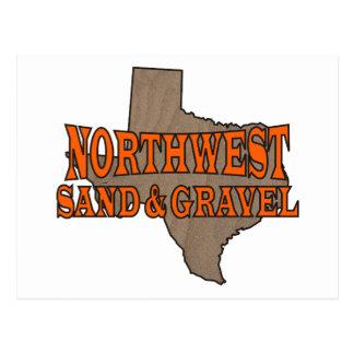 Arena y grava del noroeste: Logotipo formal Tarjeta Postal