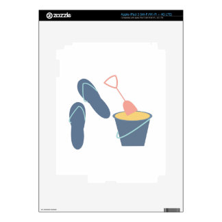 Arena y sandalias iPad 3 skins