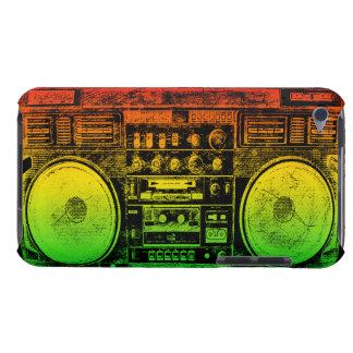 Arenador del ghetto de Rasta iPod Touch Case-Mate Carcasas