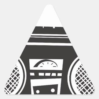 Arenador del ghetto pegatina triangular