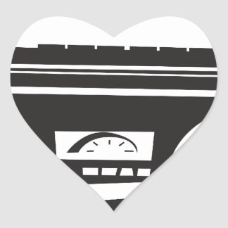 Arenador del ghetto pegatina en forma de corazón