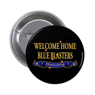 Arenadores azules caseros agradables pin redondo de 2 pulgadas