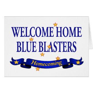 Arenadores azules caseros agradables tarjeta de felicitación