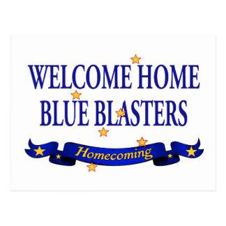 Arenadores azules caseros agradables tarjeta postal
