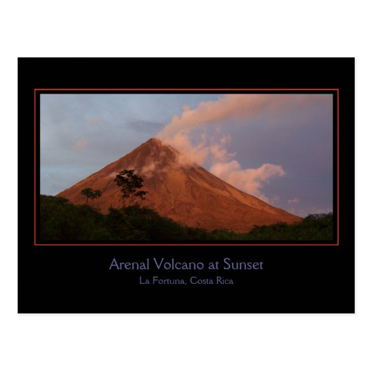 Arenal Volcano at Sunset Postcard