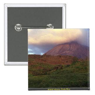 Arenal volcano, Costa Rica 2 Inch Square Button
