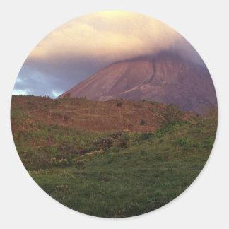 Arenal volcano, Costa Rica Classic Round Sticker