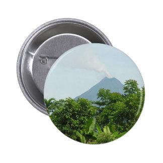 Arenal Volcano, Costa Rica. Pinback Button