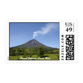 Arenal Volcano Costa Rica Postage Stamp