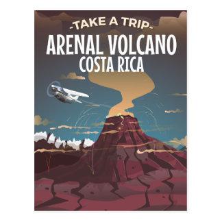 Arenal Volcano Costa Rica vintage cartoon Postcard