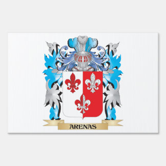 Arenas Coat Of Arms Lawn Sign