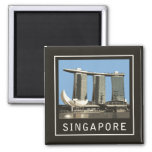 Arenas de la bahía del puerto deportivo de Singapu Imán De Nevera