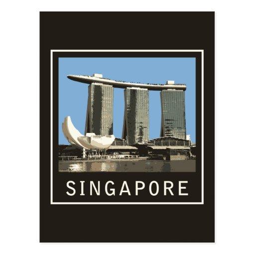 Arenas de la bahía del puerto deportivo de Singapu Tarjeta Postal