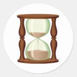 Arenas del reloj de arena etiqueta redonda