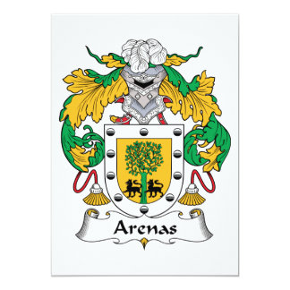 Arenas Family Crest 5x7 Paper Invitation Card