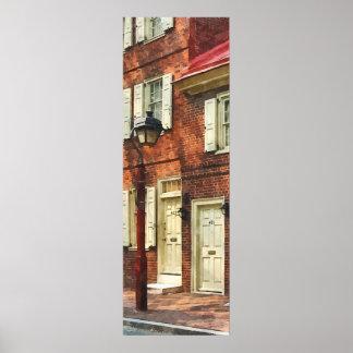 Arenisca de color oscuro de Philadelphia Poster