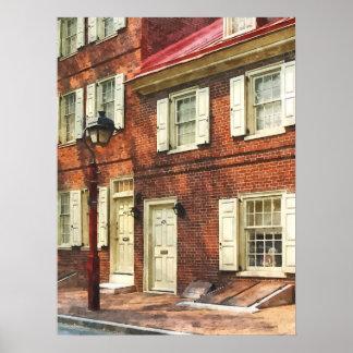 Arenisca de color oscuro de Philadelphia Impresiones