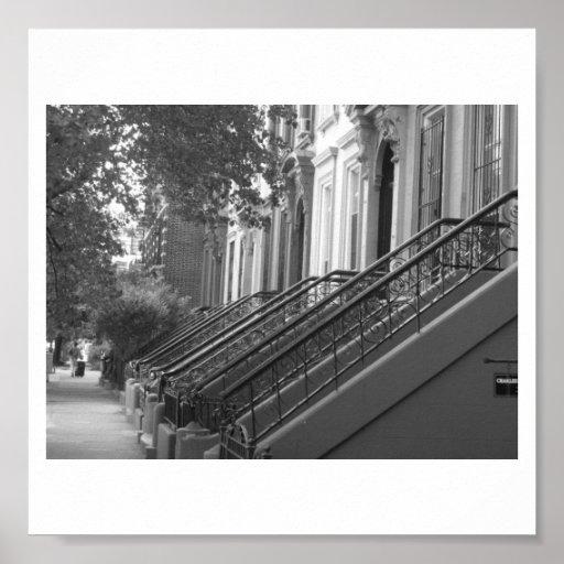 Areniscas de color oscuro de Brooklyn Impresiones