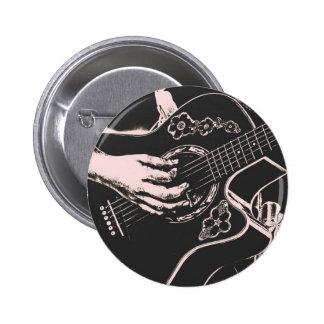 Arenoso gris de la guitarra del pnk femenino de la pin