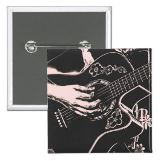 Arenoso gris de la guitarra del pnk femenino de la pins