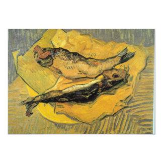 "Arenques ahumados de Vincent van Gogh Invitación 5"" X 7"""
