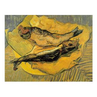 Arenques ahumados de Vincent van Gogh Postal