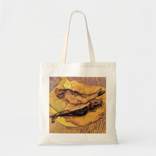 Arenques ahumados (pescados) por Van Gogh Bolsa Tela Barata