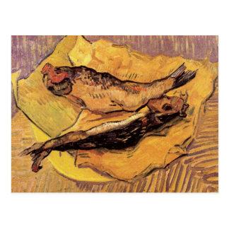 Arenques ahumados (pescados) por Van Gogh Postales