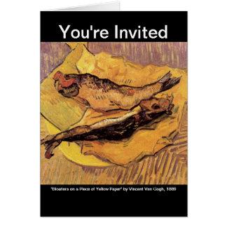 Arenques ahumados (pescados) por Van Gogh Tarjeta De Felicitación